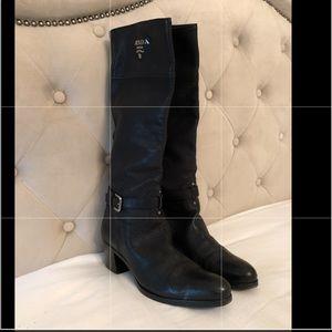 AUTHENTIC VINTAGE Black Prada Logo Boots